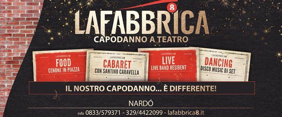 Il fine settimana alla Fabbrica8 di Nardò: venerdì live music, sabato street food e domenica cabaret  Da lunedì 19 un corso di cucina con la chef Anna Maria di Gregorio
