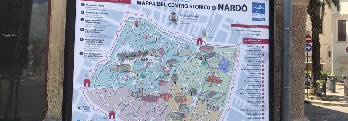Turismo,Nardò: Nuove plance cartografiche per il centro storico con effetto 3d