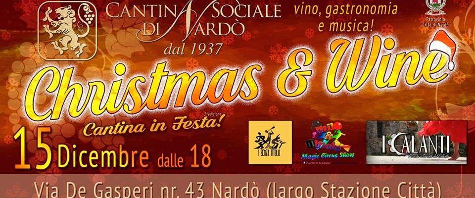 ALLA CANTINA SOCIALE C'È CHRISTMAS AND WINE, APPUNTAMENTO CON IL BUON VINO. Seconda edizione domani (ore 20) di Cantina di Festa, che avrà un prologo dedicato ai bambini
