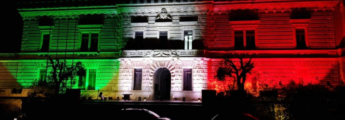 IL CASTELLO DIVENTA TRICOLORE, NARDÒ MANDA UN MESSAGGIO DI UNITÀ NAZIONALE