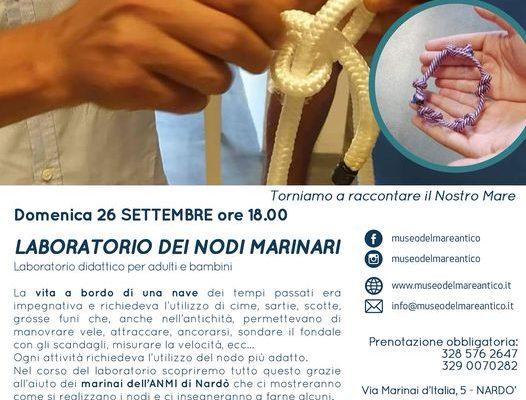 """LABORATORIO DIDATTICO DEI NODI MARINARI"""" a cura di The Monuments People APS"""